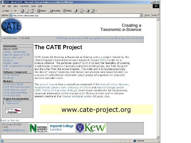The CATE Project
