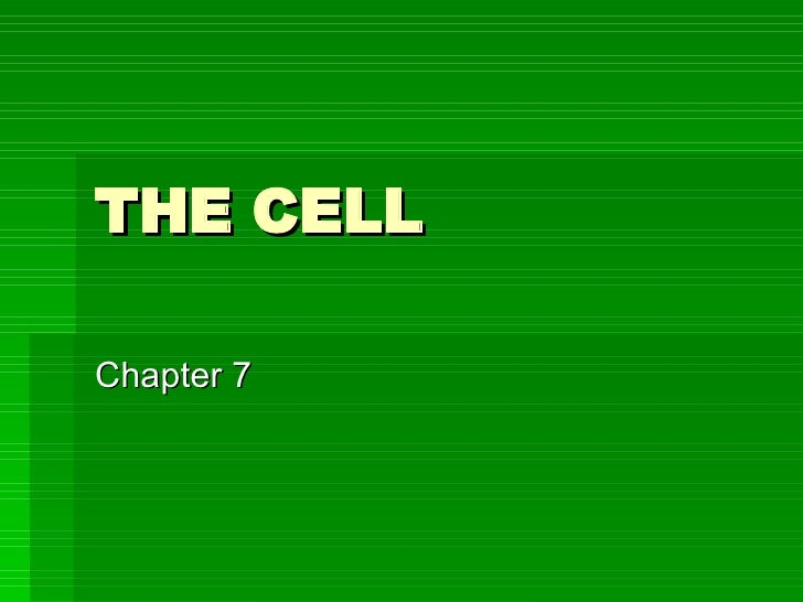 THE CELL Chapter 7
