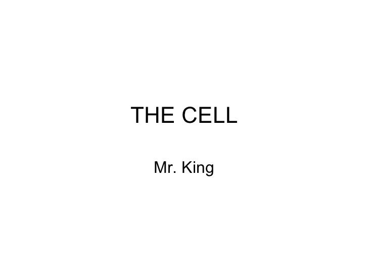 THE CELL Mr. King