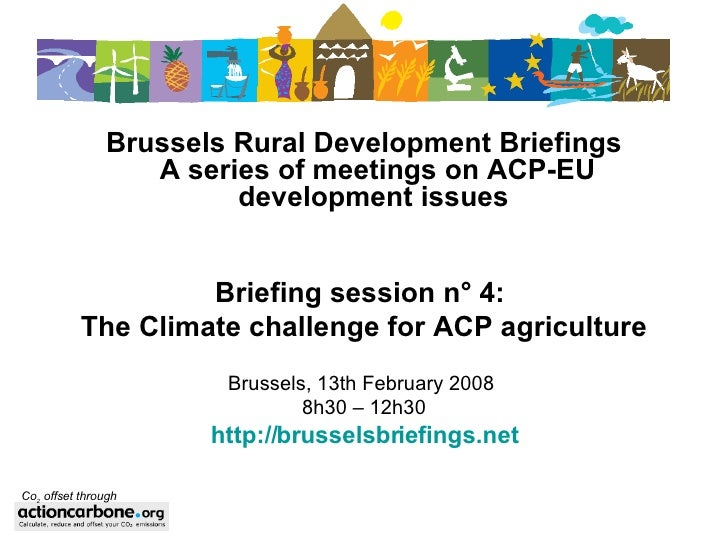The climate challenge for ACP agriculture