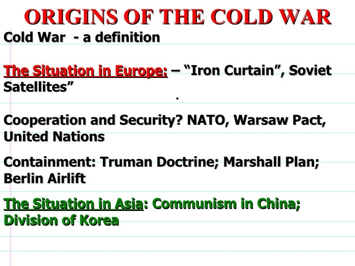 Causes Of The Cold War Essay