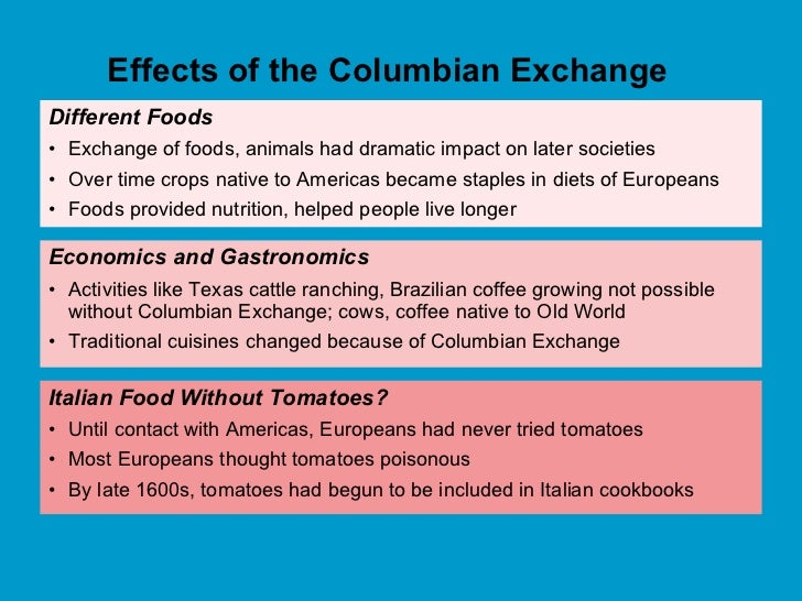 63 discuss the columbian exchange what was exchanged and who gained the most
