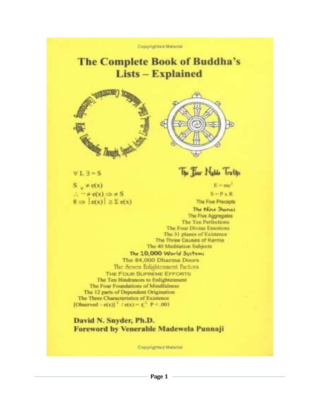 The complete-book-of-buddhas-lists-explained