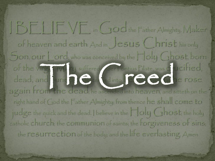 The Creed - I Believe