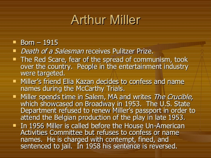 arthur millers commentary essay Arthur miller has been one of americas best known play writers who emerged in the united states since world war ii he has been writing since the age of seventeen and.