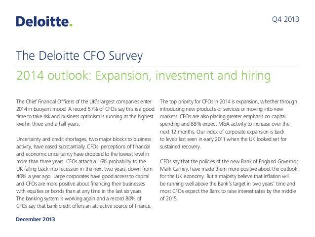 The Deloitte CFO Survey: 2013 Q4 results
