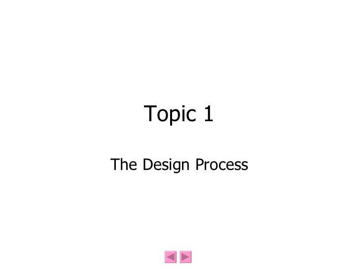 The Design Process(2)