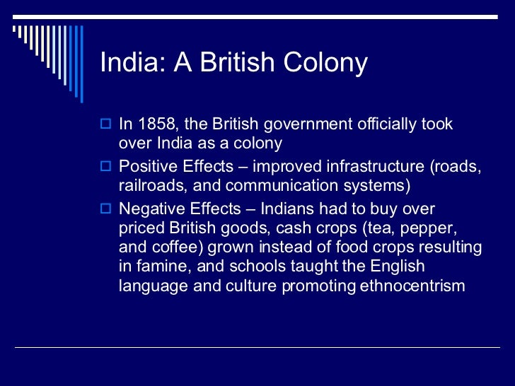 British Colonialism in India India a British Colony