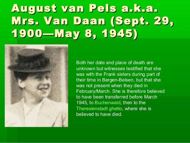 Mrs Van Daan Death 29,mrs Van Daan Sept