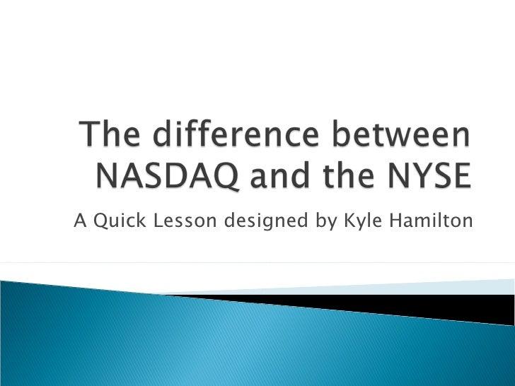 A Quick Lesson designed by Kyle Hamilton