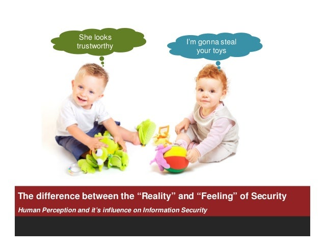 The Difference Between the Reality and Feeling of Security by Thomas Kurian