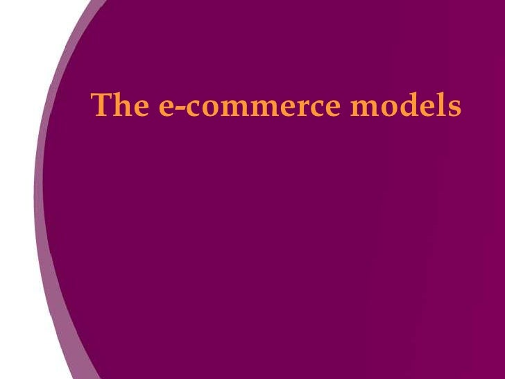 The e-commerce models