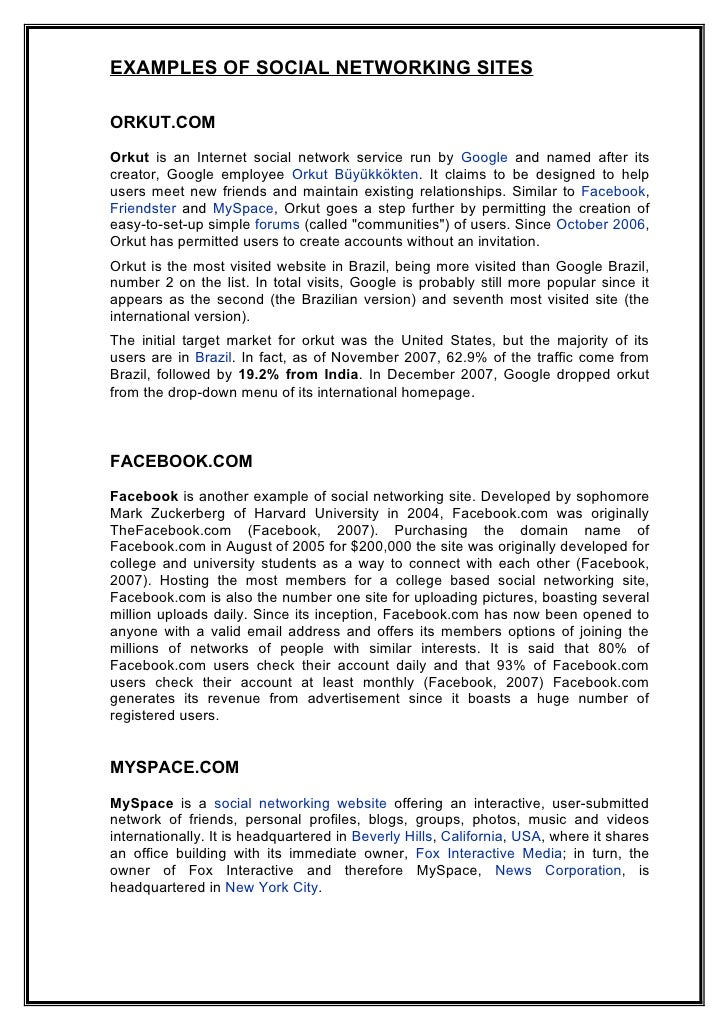 causes and effects of social networking essay Are social networks causing loneliness among teens by aj agrawal questions are now being raised on the true impact of social networks on teens and their health but social networks cause teens to become lonelier often times due to insecurities they have coming to the surface.