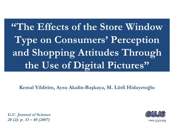 The Effects of Store Window Types on Consumer Behavior