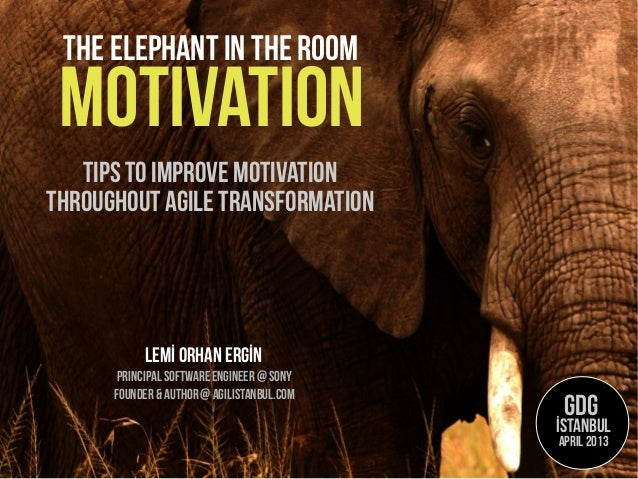 motivationTips to ımprove motivationLemİ Orhan ERGİNPrincipal software engineer @SonyThe elephant in the roomthroughout ag...