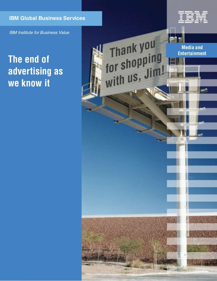 The End Of Advertising By IBM