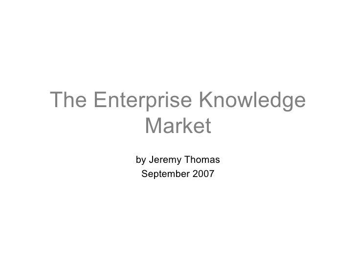 The Enterprise Knowledge Market V1.2