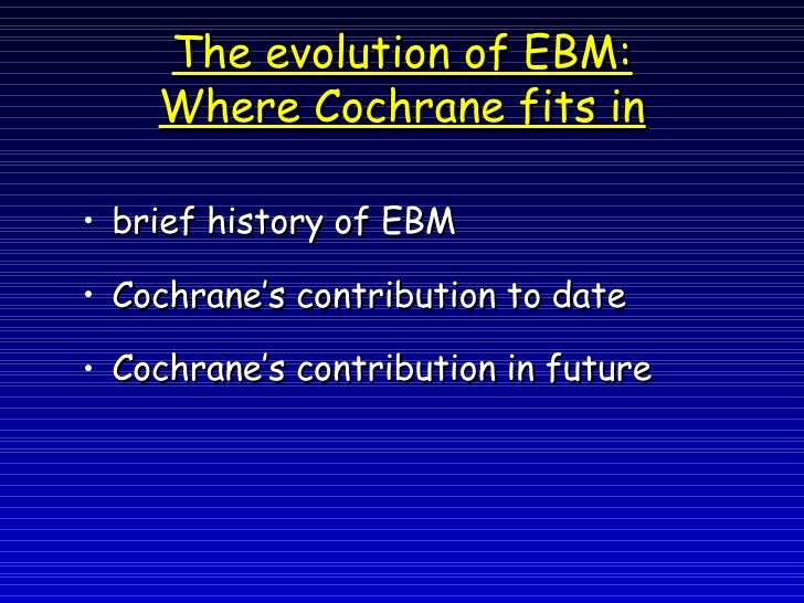 history of evidence-based medicine pdf