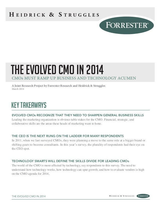The evolved-cmo-in-2014