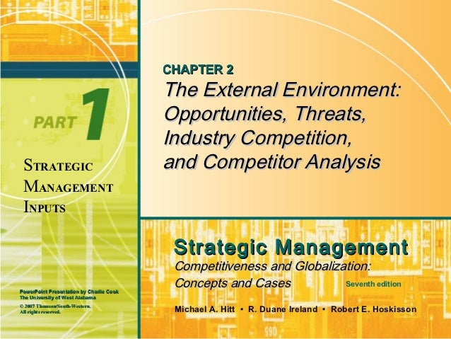 CHAPTER 2                                          The External Environment:                                          Oppo...