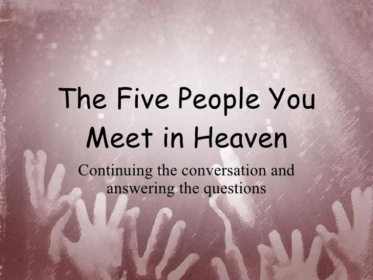 """the five people you meet in heaven summary essay This tale begins when an amusement park accident tragically kills eddie """" maintenance, an eighty-three-year old man who dedicated his life to keeping the  park."""