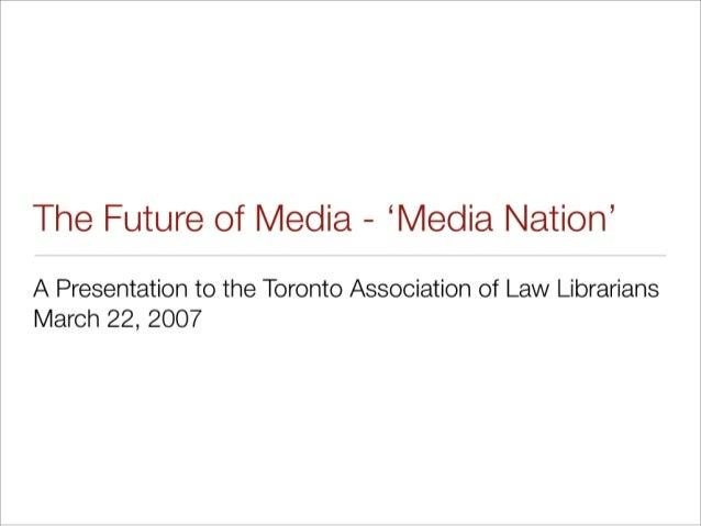 The Future of Media Presentation