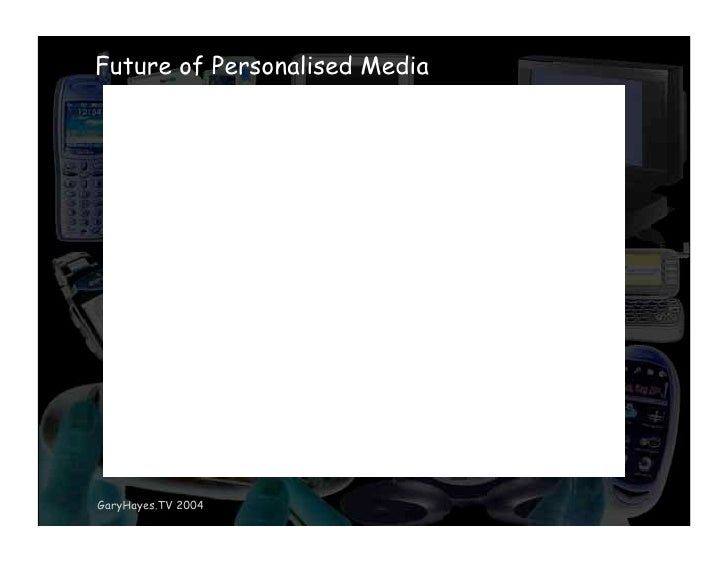 Future of Personalised Media     GaryHayes.TV 2004