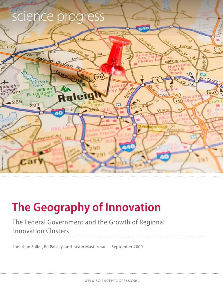 istockphoto/adamkaz                      The Geography of Innovation                      The Federal Government and the G...
