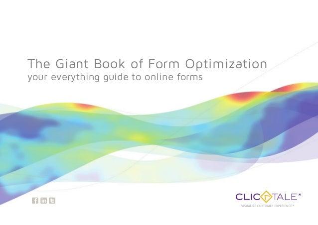 El libro de la optimización de formularios Web, de ClickTale