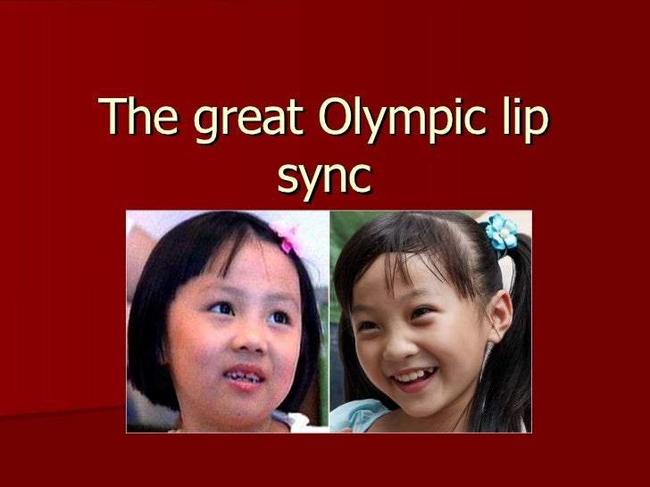 The great Olympic lip sync