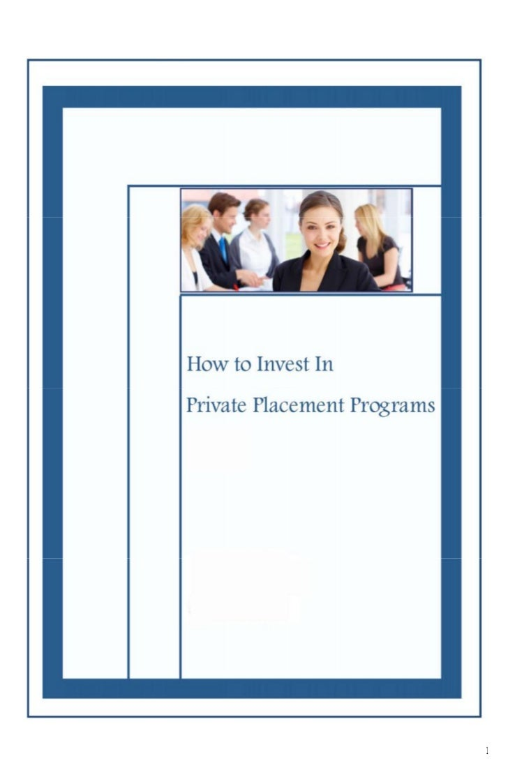 The guide-about-private placement-program