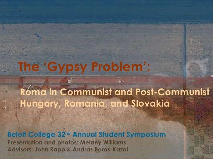The 'Gypsy Problem'