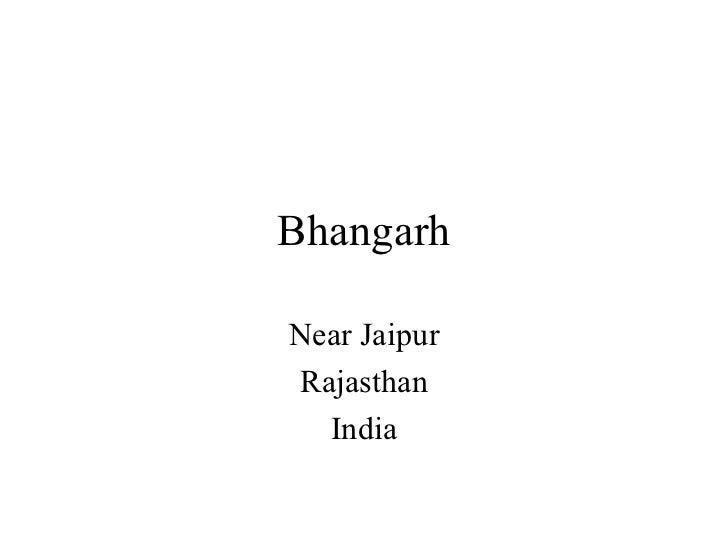 Bhangarh Near Jaipur Rajasthan India
