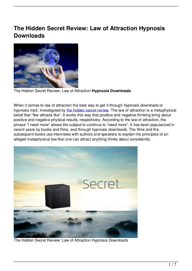 The Hidden Secret Review: Law of Attraction HypnosisDownloadsThe Hidden Secret Review: Law of Attraction Hypnosis Download...