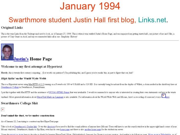 origin of blog