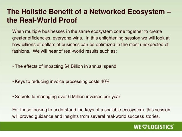 The Holistic Benefit of a Networked Ecosystem –the Real-World ProofWhen multiple businesses in the same ecosystem come tog...