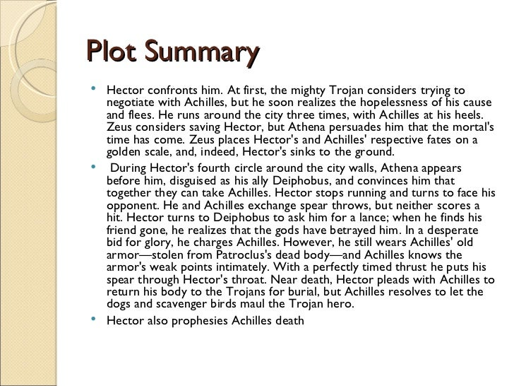 an analysis of the main characters in homers the iliad achilles and hector Key words: homer, iliad, gods, greek literature homeros'un  most  important characters along with titans, humans, demigods and the other  creatures  apollo leads to the angering of agamemnon and then achilles'  withdrawal  acres when he falls22 and zeus's giant hand pushes hector into  the battle in addition.