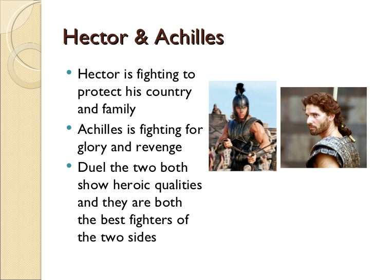 "essay on hector from the iliad Dicuss similarities and differences between homer's iliad and the movie troy essay sample as ""the iliad"" ends with hector's funeral."