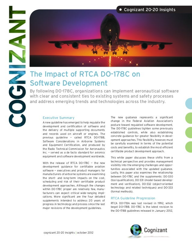 The Impact of RTCA DO-178C on Software Development