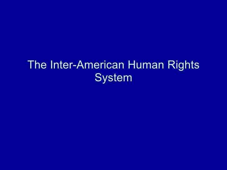 Inter-american human rights