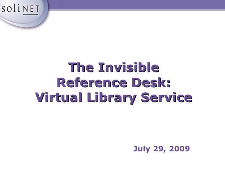 The Invisible Reference Desk