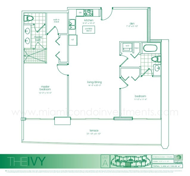 The Ivy Floor Plans for condos in Miami