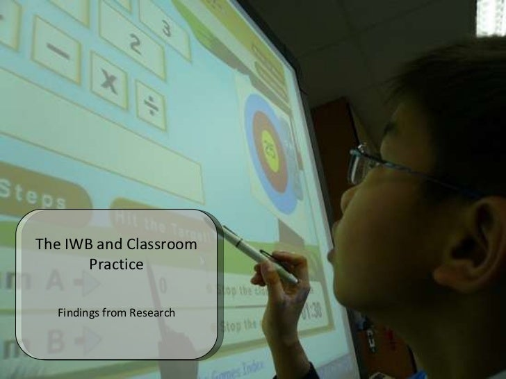 The IWB and Classroom Practice Findings from Research