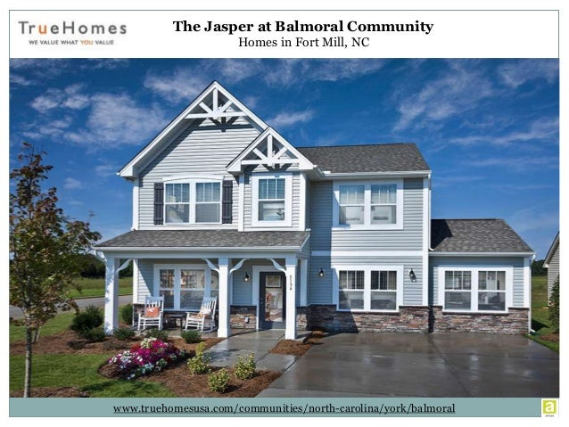 Homes for Sale in Fort Mill NC at The Jasper, Balmoral Community