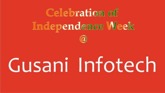 The journey of indian independence day 3 at Gusani Infotech