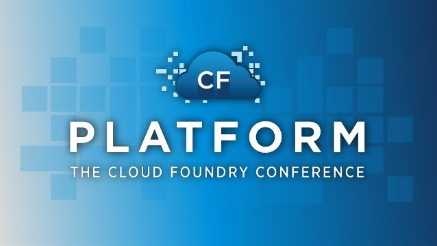 The Journey to Cloud Foundry