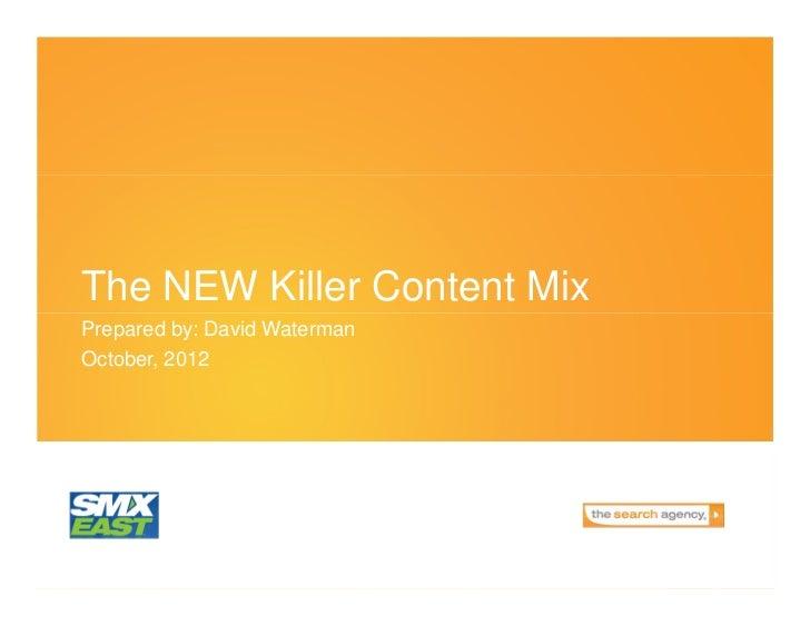 The Killer Content Mix