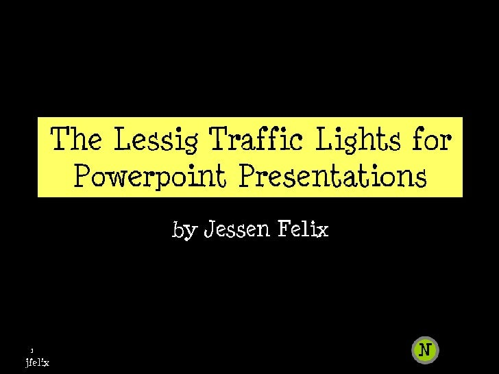 The Lawrence Lessig Traffic Lights
