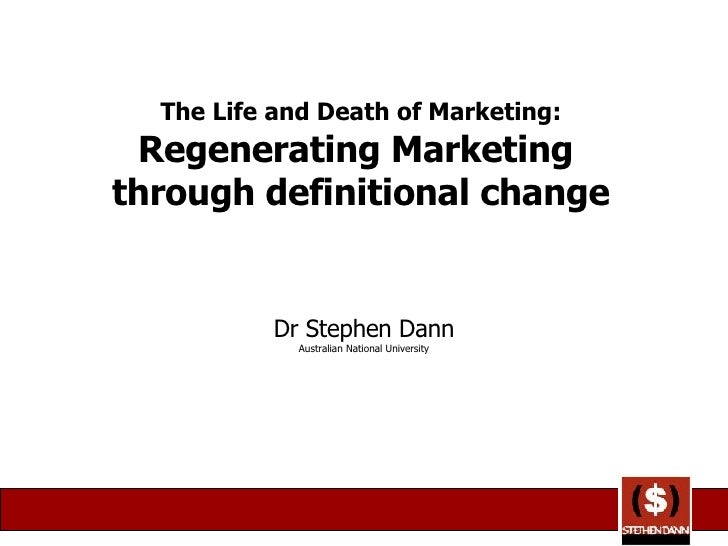 The Life and Death of Marketing