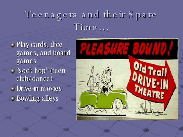 teenage life in the 1950s Teenager popular culture - united states 1950s  in desire to have their children have a better life  the 1950s afforded teenage culture the environment it .